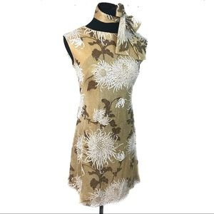 Gorgeous gold metal vintage 60's go go dress